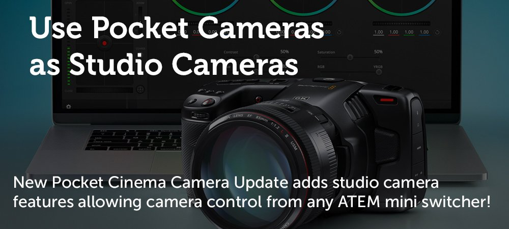 Pocket Cameras as Studio